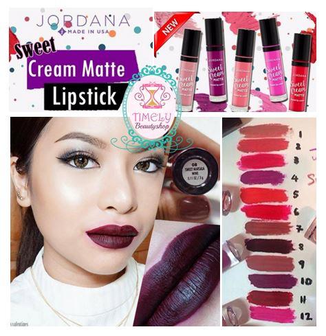 Jordana Sweet Cream Matte Liquid Lip Color 08 Sweet Marsala Wine